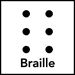 Disability Access Symbol Braille