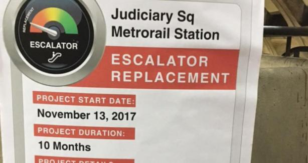 Metro Entrance Closing for Escalator Replacement