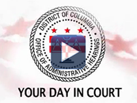 "Frame of video showing OAH logo and text ""Your Day in Court"""